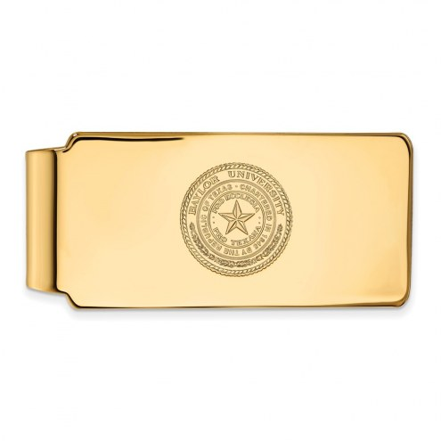 Baylor Bears Sterling Silver Gold Plated Crest Money Clip