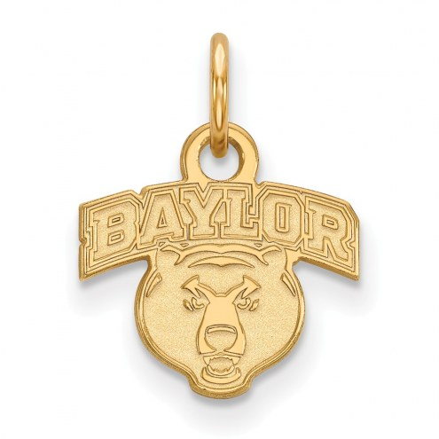 Baylor Bears Sterling Silver Gold Plated Extra Small Pendant