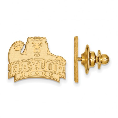 Baylor Bears Sterling Silver Gold Plated Lapel Pin