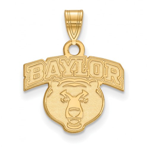 Baylor Bears Sterling Silver Gold Plated Small Pendant