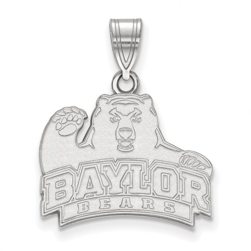 Baylor Bears Sterling Silver Medium Pendant