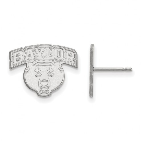 Baylor Bears Sterling Silver Small Post Earrings
