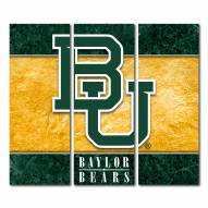 Baylor Bears Triptych Double Border Canvas Wall Art