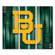 Baylor Bears Triptych Rush Canvas Wall Art