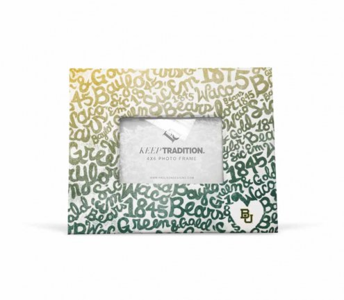 Baylor Bears Watercolor Picture Frame