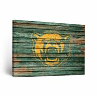 Baylor Bears Weathered Canvas Wall Art