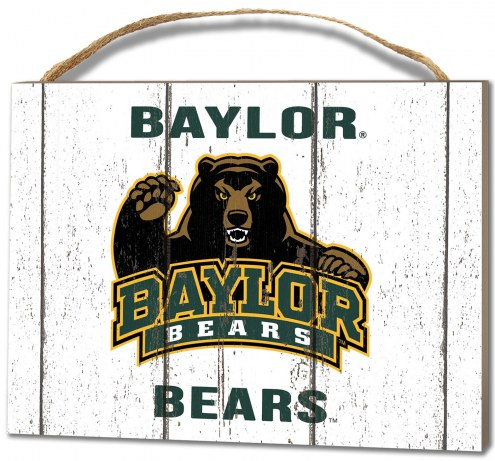 Baylor Bears Weathered Logo Small Plaque