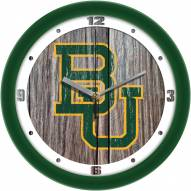Baylor Bears Weathered Wood Wall Clock