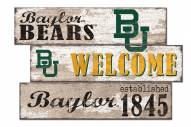 Baylor Bears Welcome 3 Plank Sign