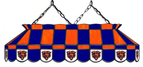 """Chicago Bears NFL Team 40"""" Rectangular Stained Glass Shade"""