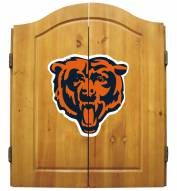 Chicago Bears NFL Complete Dart Board Cabinet Set (w/darts & flights)