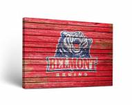 Belmont Bruins Weathered Canvas Wall Art