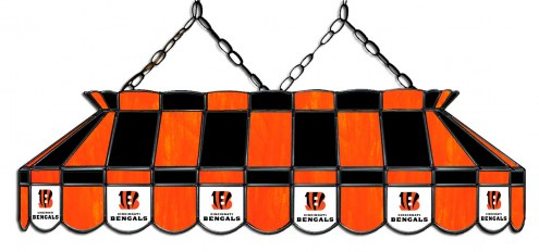 "Cincinnati Bengals NFL Team 40"" Rectangular Stained Glass Shade"