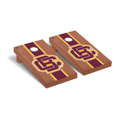 Bethune-Cookman Wildcats Rosewood Stained Stripe Cornhole Game Set