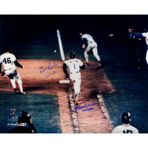 "Bill Buckner/Mookie Wilson Metallic Photo Signed 16"" x 20"" Photo"