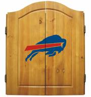 Buffalo Bills NFL Complete Dart Board Cabinet Set (w/darts & flights)