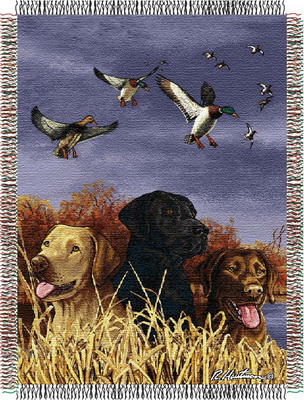 Bird Dog Trio Throw Blanket