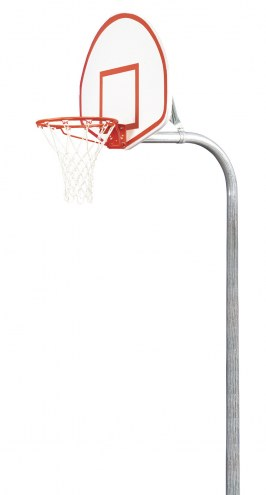 "Bison 3 1/2"" Tough Duty Aluminum Fan Playground Basketball Hoop"
