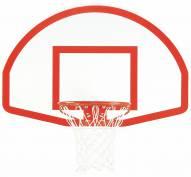 "Bison 35.5"" x 54"" Lifeguard White Aluminum Basketball Backboard"
