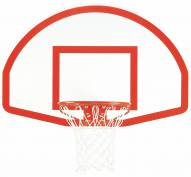 "Bison 35.5"" x 54"" Lifeguard White Aluminum Basketball Backboard"