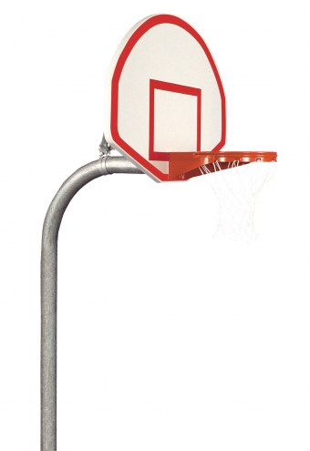 "Bison 4 1/2"" Heavy Duty Aluminum Fan Playground Basketball Hoop"