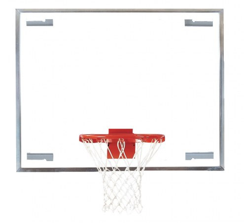 """Bison 42"""" x 54"""" Glass Competition Basketball Backboard"""