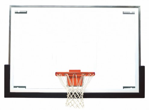 """Bison 48"""" x 72"""" Tall Glass Competition Basketball Backboard"""