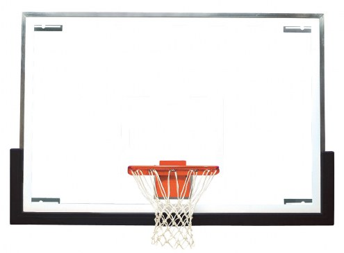 "Bison 48"" x 72"" Unbreakable Tall Glass Basketball Backboard"