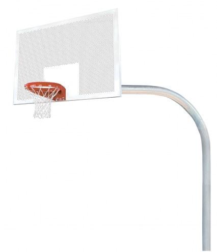 "Bison 5 9/16"" x 8' Mega Duty 42"" x 72"" Perforated Steel Playground Basketball Hoop"