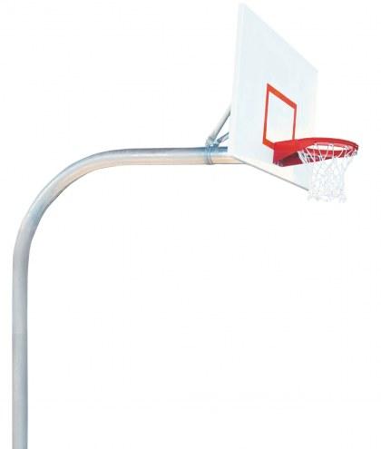 "Bison 5 9/16"" x 8' Mega Duty 42"" x 72"" Steel Playground Rectangular Basketball Hoop"