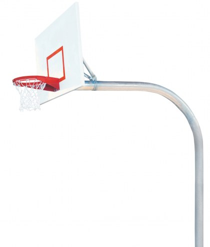 "Bison 5 9/16"" x 8' Mega Duty Steel Playground Rectangle Basketball Hoop"