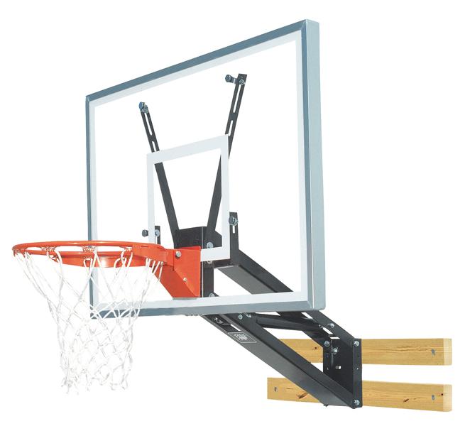 Bison PKG275 QuickChange Acrylic Wall Mounted Adjustable Basketball Hoop