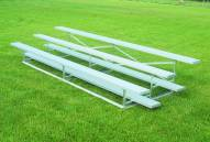 Bison Standard Aluminum Portable 21' Outdoor Bleachers - 3 Tier