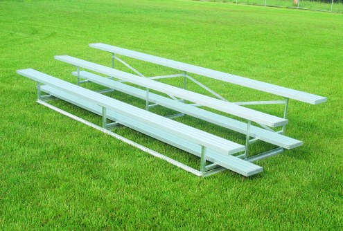 Bison Standard Aluminum Portable 7.5' Outdoor Bleachers - 3 Tier
