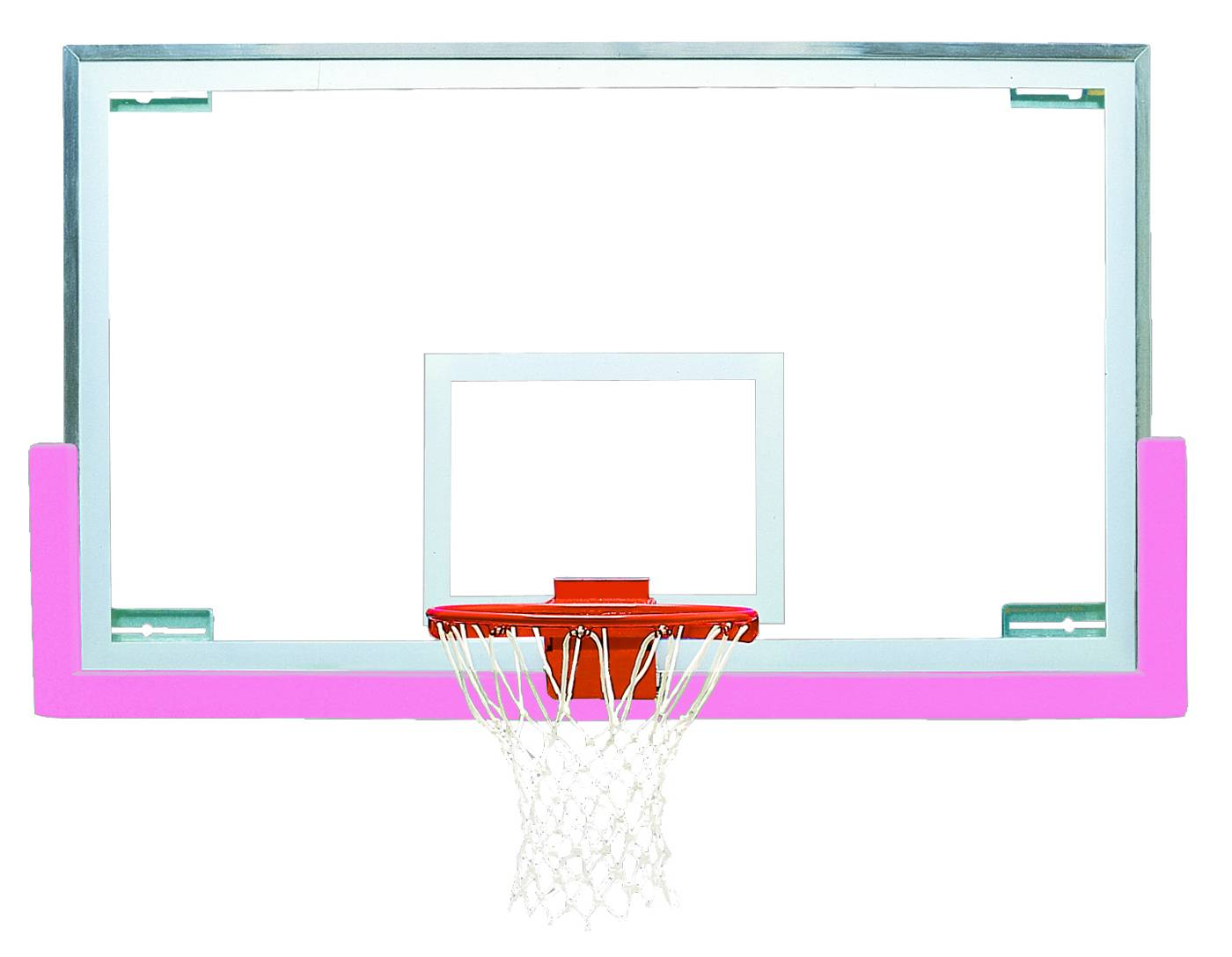 Basketball Hoop Dimensions Diagram Standard Board Size Bison Short Gymnasium Backboard Package