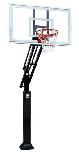 "Bison Ultimate Hangtime Adjustable Basketball System with 42"" x 72"" Polycarbonate Backboard"