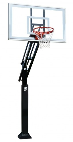 "Bison Ultimate Hangtime Adjustable Basketball System with 42"" x 72"" Polycarbonate Backboard"