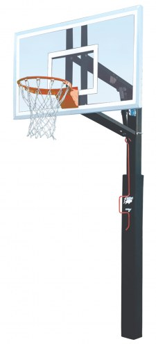 """Bison ZipCrank Outdoor Basketball System with 36"""" x 60"""" Polycarbonate Backboard"""