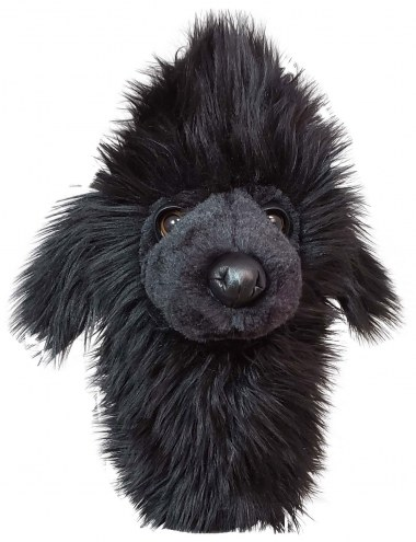 Black Poodle Hybrid/Utility Golf Club Headcover