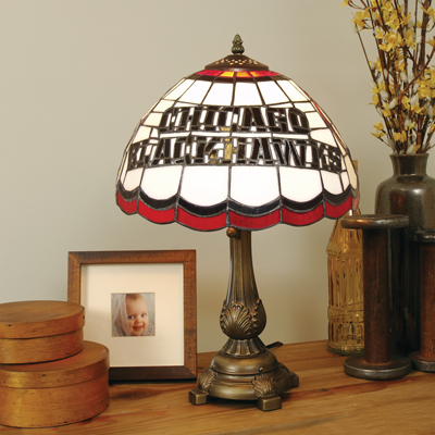 Chicago Blackhawks NHL Stained Glass Table Lamp