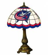 Columbus Blue Jackets NHL Stained Glass Table Lamp