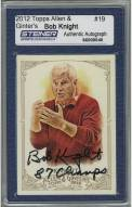 """Bob Knight Signed 2012 Topps Card w/ """"87 Champs"""""""
