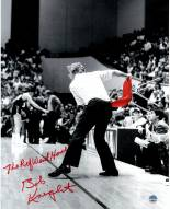 """Bob Knight Signed Throwing Chair B&W w/ Red Chair 8 x 10 Photo w/ """"The Ref Went Home"""""""