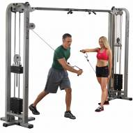 Body Solid Pro Clubline Cable Crossover Machine - 2x 165 lb Stacks
