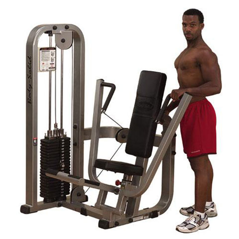 Body Solid Chest Press Machine with 310 lb. Weight Stack