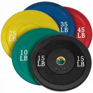 Body Solid Colored Rubber Bumper Set