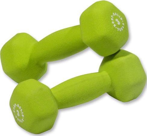 Body Solid 3 lb Neoprene Dumbbell Pair