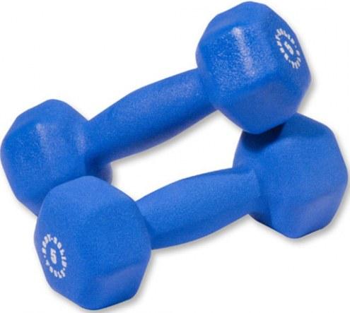 Body Solid 5 lb Neoprene Dumbbell Pair