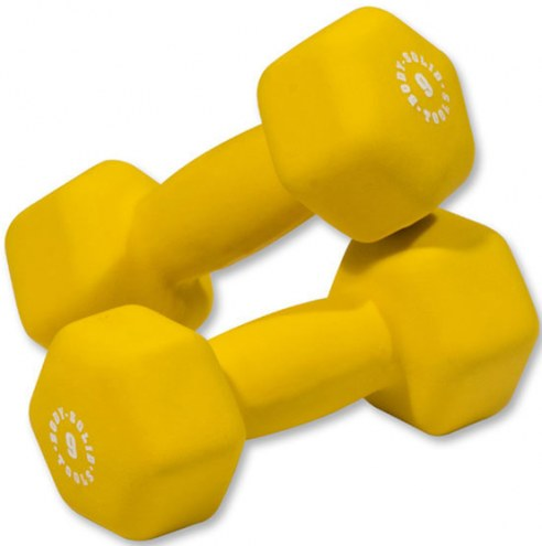 Body Solid 9 lb Neoprene Dumbbell Pair