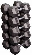 Body Solid Rubber Hex Dumbell Set - 55-75 lb pairs